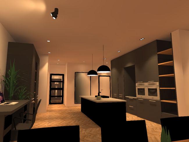 3d lichtplan Dali verlichting